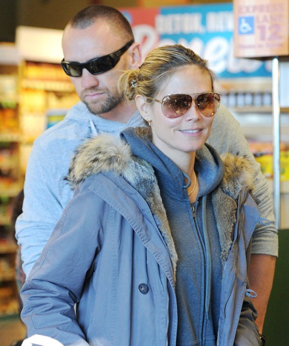 Heidi Klum and bodyguard Martin Kristen