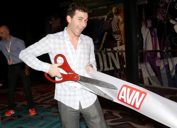 James Deen cuts the ribbon
